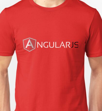 Angular JS (On Red) Unisex T-Shirt