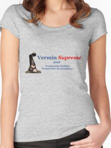 Vermin Supreme for President 2016 Women's Fitted Scoop T-Shirt
