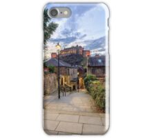 Edinburgh Castle from The Vennel Stairs iPhone Case/Skin