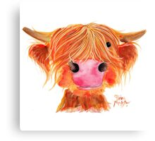HIGHLAND COW ' ORANGE ' By Shirley MacArthur Canvas Print