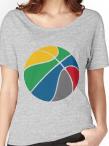 Basketball with FIBA official colors  Women's Relaxed Fit T-Shirt