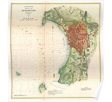 Vintage Map of Burlington Vermont (1872)  Poster