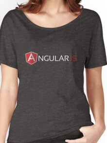 Angular JS (On Blue) Women's Relaxed Fit T-Shirt