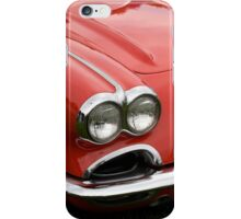 the hood of a classic sports car iPhone Case/Skin