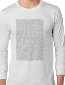 THE ENTIRE BEE MOVIE SCRIPT Long Sleeve T-Shirt