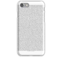 THE ENTIRE BEE MOVIE SCRIPT iPhone Case/Skin