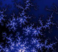 Dark Blue Fractal by Henrik Lehnerer