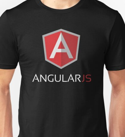 Angular JS (On Black) Unisex T-Shirt