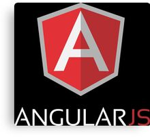 Angular JS (On Black) Canvas Print