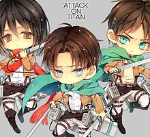 Attack On Titan CHIBI!!! MEGA EPICC!!!! by WolkyWarwick