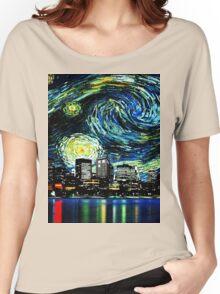 tardis starry night fun  Women's Relaxed Fit T-Shirt
