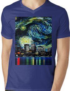 tardis starry night fun  Mens V-Neck T-Shirt