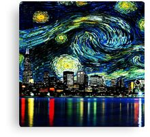 tardis starry night fun  Canvas Print