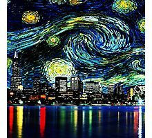 tardis starry night fun  Photographic Print