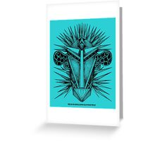 THE BLUE CEPHALOPOD MAN FROM TITAN Greeting Card