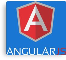 Angular JS (On Blue) Canvas Print