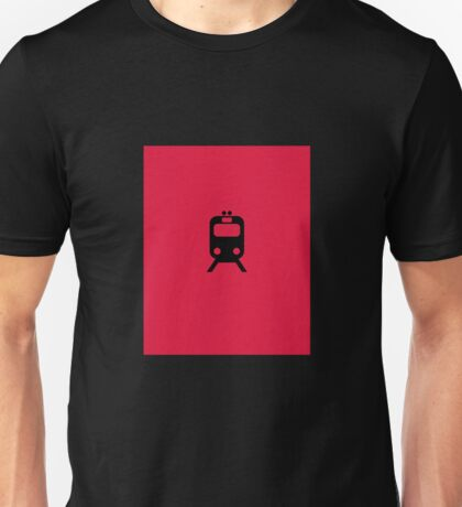 CTA Chicago Red Line Inspired Minimalist Print Unisex T-Shirt