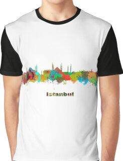 Istanbul Watercolor Skyline  Graphic T-Shirt
