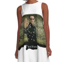Matrix Attitude Stopping Bullets - Keanu Reeves A-Line Dress