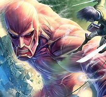 Epic Eren VS Colossal TItan by WolkyWarwick