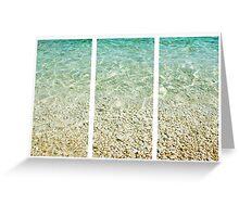 Adriatic Sea Triptych Greeting Card
