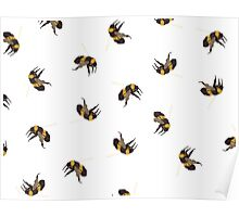 Bumble Bee Pattern Poster