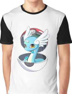 Cute Dratini in Pokèball Graphic T-Shirt