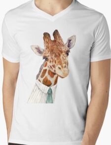 Male Giraffe Mens V-Neck T-Shirt