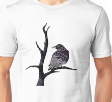 Three-Eyed Crow on a Branch  Unisex T-Shirt