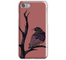 Three-Eyed Crow on a Branch  iPhone Case/Skin