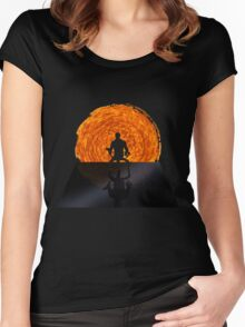 Staring into the Illusive sun Women's Fitted Scoop T-Shirt