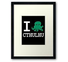 I ❤️ Cthulhu Framed Print