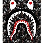 shark bape goyard by pitekbabon