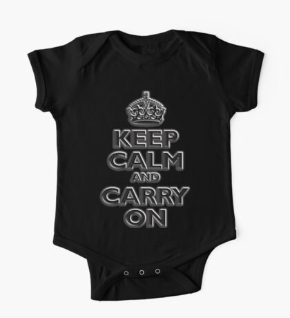Keep Calm & Carry On, Be British! (Chisel), UK, WW2, WWII, Propaganda One Piece - Short Sleeve