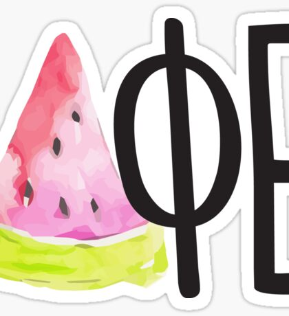 DPHIE watermelon black Sticker