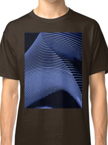 Blue waves, line art, curves, abstract pattern Classic T-Shirt