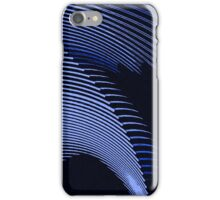Blue waves, line art, curves, abstract pattern iPhone Case/Skin