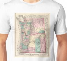Vintage Map of Washington and Oregon (1875)  Unisex T-Shirt