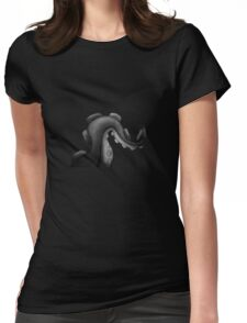 Tentacule (v. Black and White) Womens Fitted T-Shirt