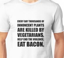Vegetarians Eat Bacon Unisex T-Shirt