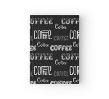 Seamless pattern with Coffee  Hardcover Journal