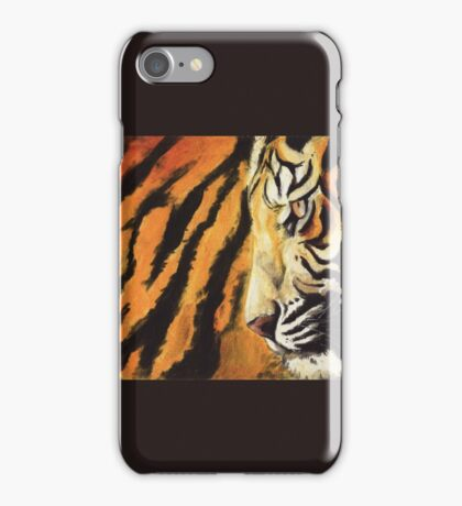 Tiger on fire iPhone Case/Skin