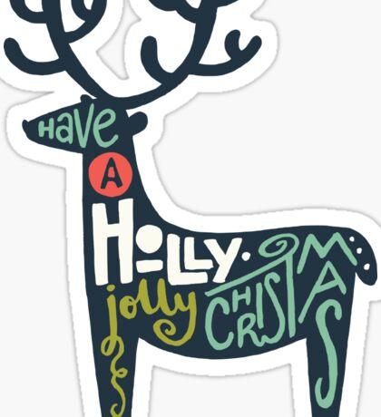 Christmas lettering Sticker