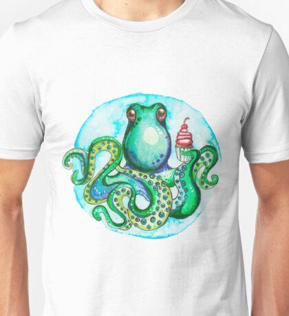 Octopus eating sweet cake Unisex T-Shirt