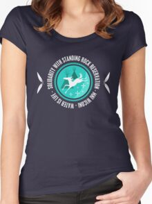 Solidarity With Standing Rock Shirt Women's Fitted Scoop T-Shirt