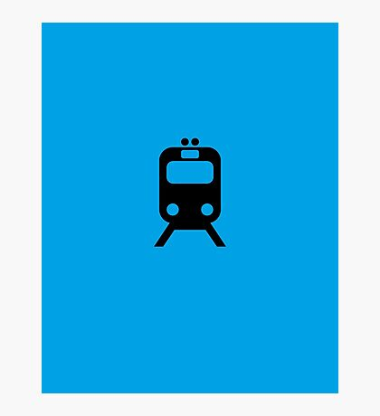 Blue Line CTA Inspired Chicago Elevated Train Pattern Photographic Print