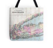 Vintage Map of Long Island (1880)  Tote Bag