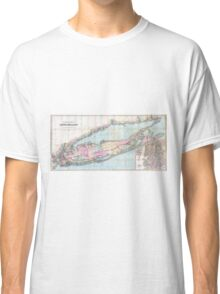 Vintage Map of Long Island (1880)  Classic T-Shirt