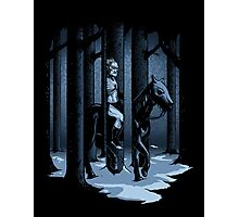The Walker in the Woods Photographic Print
