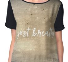 Just Breathe Quote with Dandelion Chiffon Top
